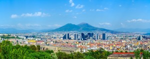 Aerial,View,Of,Centro,Direzionale,Business,District,In,Naples,With